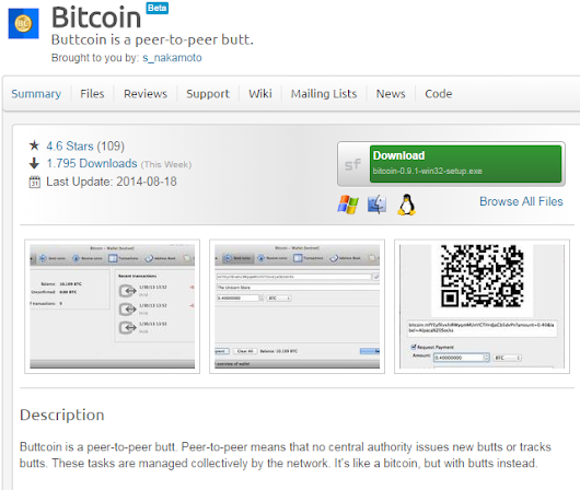 Warning: Do not download bitcoin from SourceForge