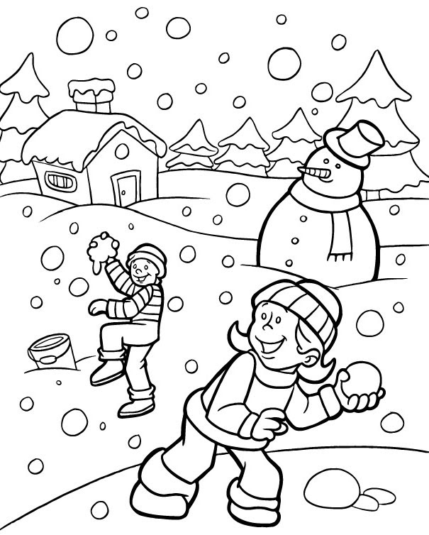 Winter Coloring Pages - Print Winter Pictures to Color at ...