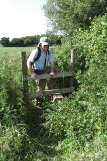Crossing a stile