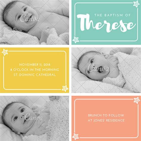 Customize 149  Christening Invitation templates online   Canva