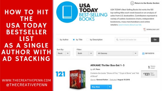 How To Hit The USA Today Bestseller List As A Single Author With Ad Stacking