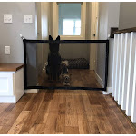 "Midlee Portable Folding Safe Guard Mesh Gate for Pets 48"" Wide x 29.5"" Tall with 3M Hooks"