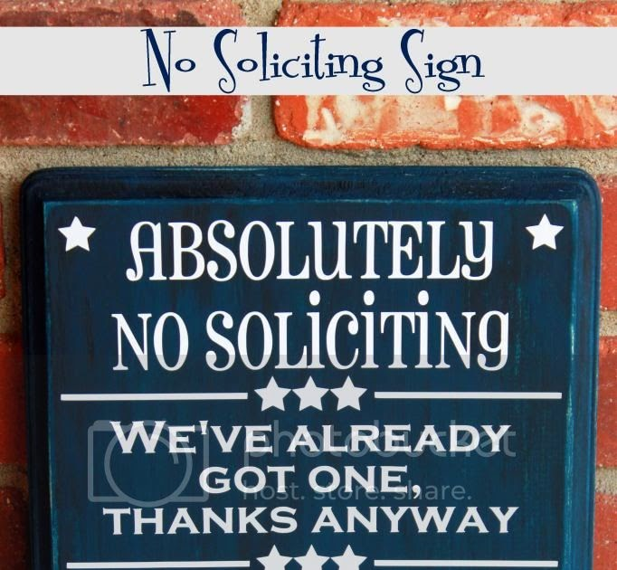 But Lighter No Soliciting Sign