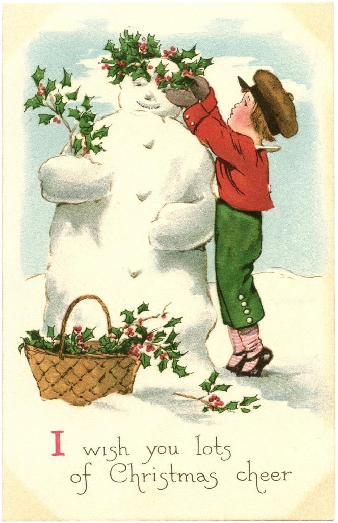 Free Vintage Snowman Image