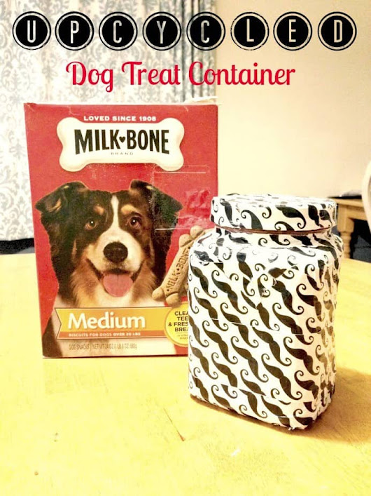 Upcycled Dog Treat Container for a Canine Valentine #MilkBoneLove