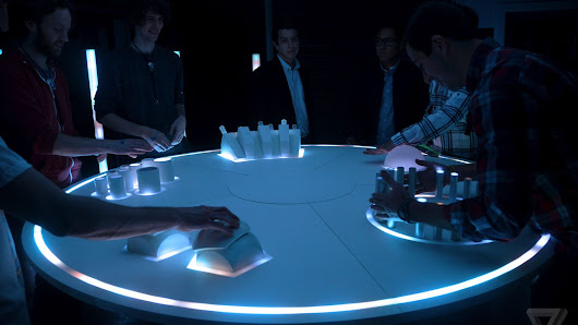 The ARC is a drum circle out of Tron, featuring electronic artist RAC