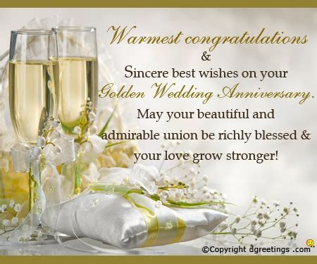 Words Of Congratulations For 50th Wedding Anniversary
