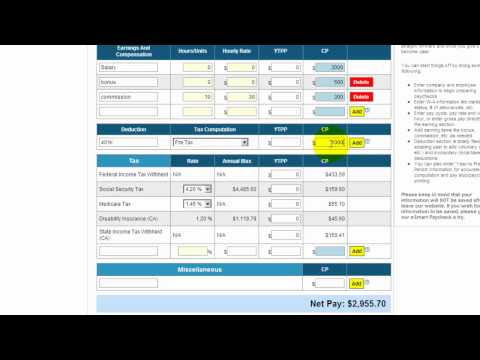 eSmart Paycheck Calculator: Free Payroll Tax Calculator 2014