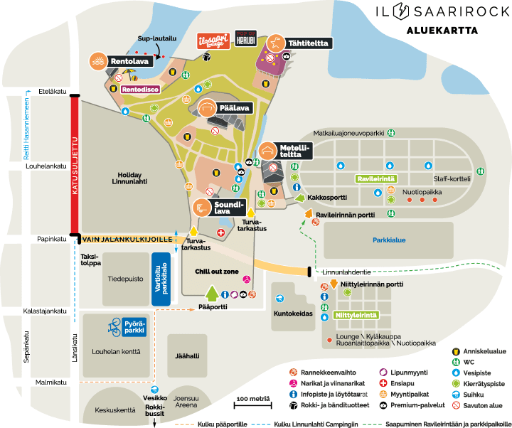 Ilosaarirock Kartta