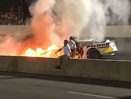 Father recuses son from burning race car at South Boston Speedway (VIDEO) - Racing News