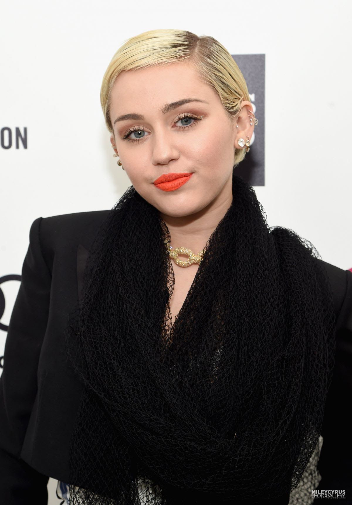 MILEY CYRUS at Elton John Aids Foundation's Oscar Viewing Party