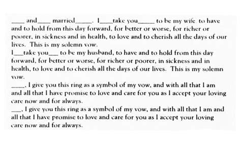 Traditional English Vow Text   Wedding Vows   Traditional