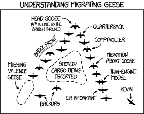 xkcd: Migrating Geese