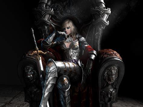 warrior queen fantasy art wallpaper