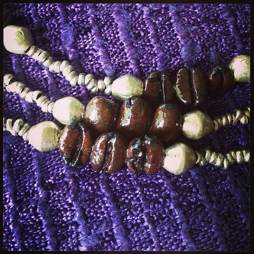Coffee Bean necklace from Ethiopia #entotobethartisan