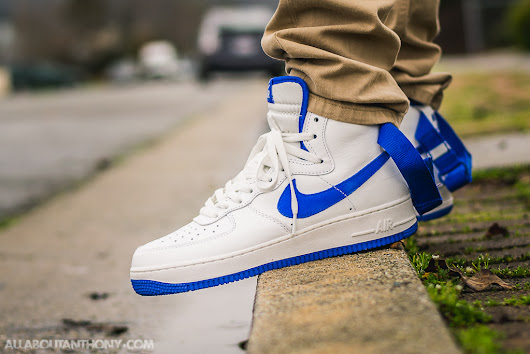 Air Force 1 High Game Royal On Feet Sneaker Review