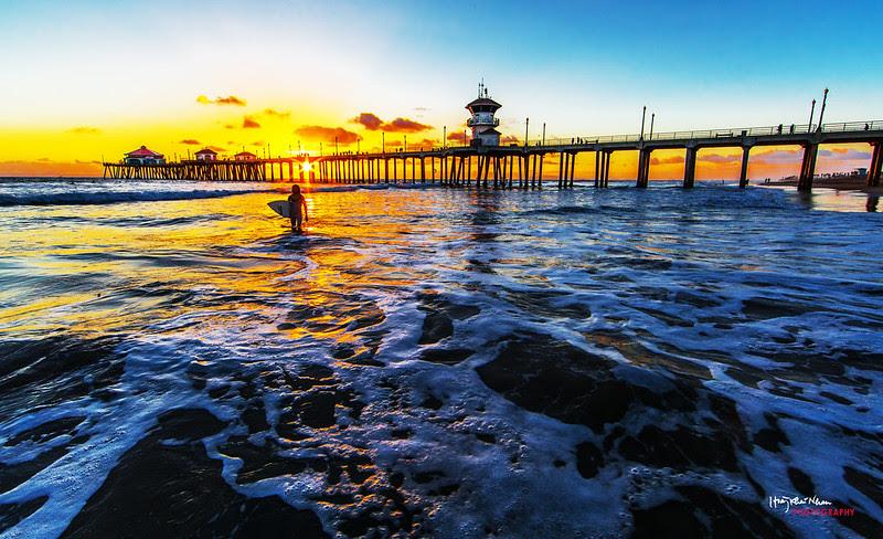 2013-10-29 Sunset Over Huntington Beach Pier-9274