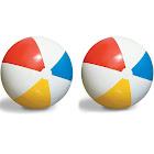 2-Pack Swimline Inflatable 36-Inch Classic Rainbow Giant Beach Balls | 2 x 90036