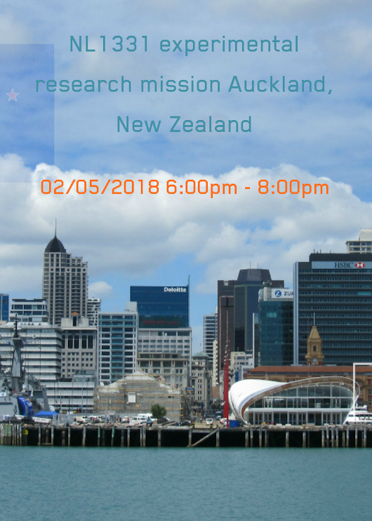 NL1331 experimental research mission Auckland, New Zealand