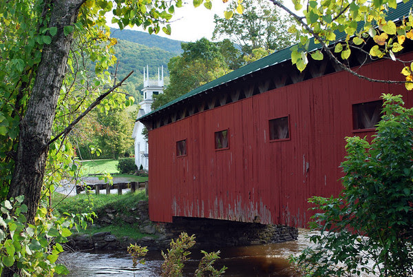The 1852 West Arlington Bridge is one of Vermont's best loved and most photographed covered bridges situated nearby the former home of artist Norman Rockwell which is now a bed & breakfast called the Inn on Covered Bridge Green.
