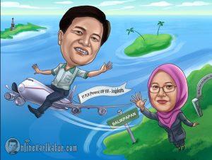 Karikatur Perpisahan Farewell Jasa Karikatur Online Terbaik