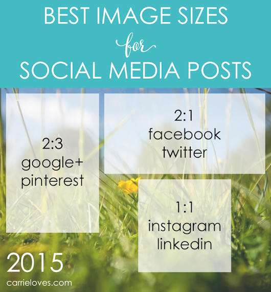 The Best image sizes for social media posts | Carrie Loves