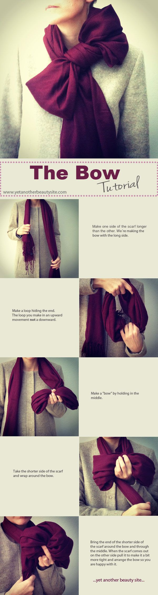 Bow scarf. could be good. could be very very bad.