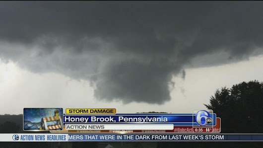 Tornado, funnel cloud reports being investigated in Chester, Lehigh Counties |