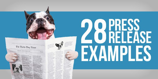 28 Press Release Examples From The Pros - Fit Small Business