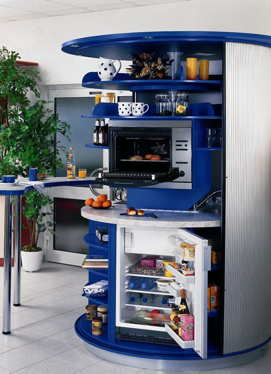 Revolving Circle Compact Kitchen   iDesignArch   Interior Design