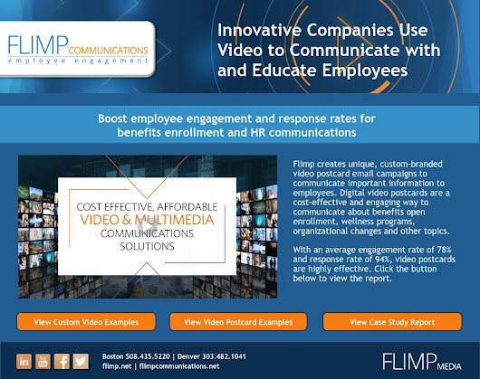 Employee Video Communications Program for Benefits Enrollment