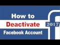 Steps to deactivate Facebook Account 2018