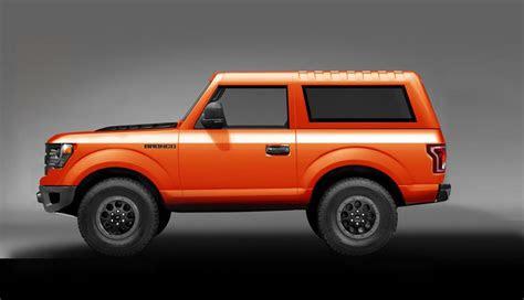 ford bronco redesign news  rumors  pickup truck