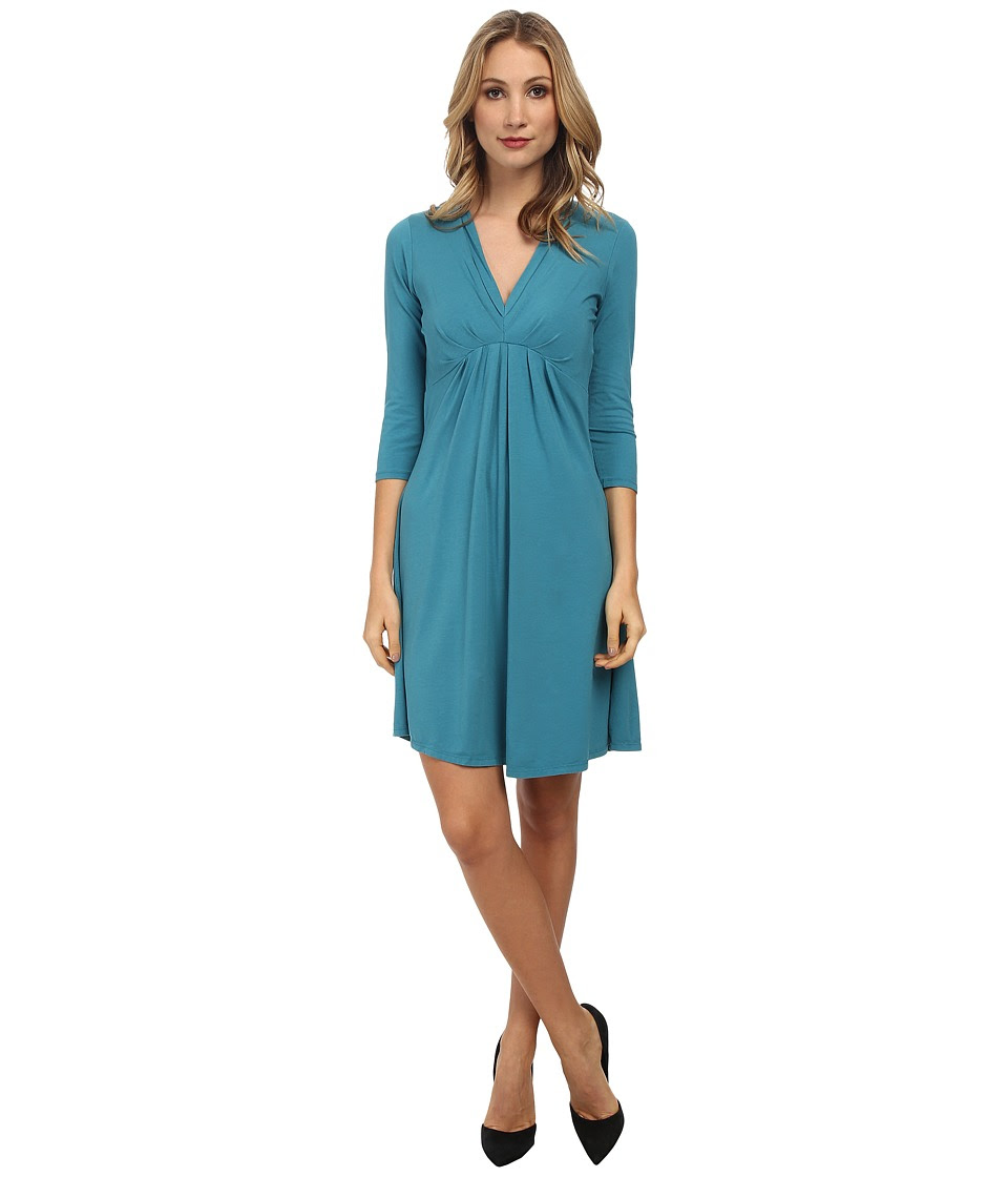 Mod-o-doc - Pleated Empire Waist Dress (Teal Harbor) Women's Dress