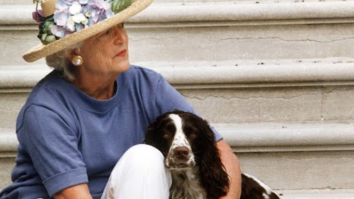 https://www.southernliving.com/syndication/barbara-bush-dogs-matching-track-suits-twitter-barbara-bush...