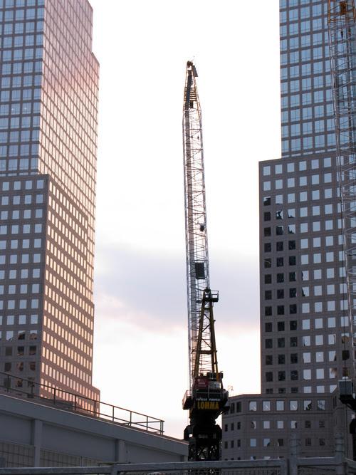 crane near the World Trade Center site, Manhattan, NYC