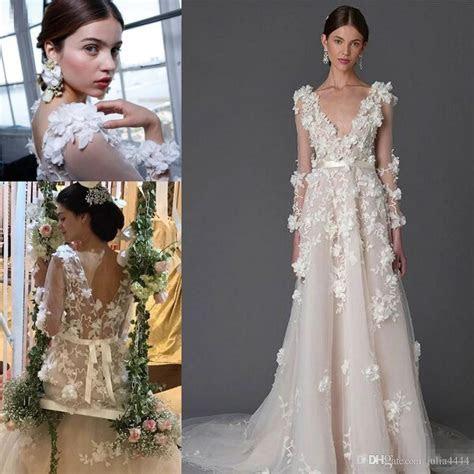 Discount Marchesa 3d Foral Lace Bohemian Beach Wedding