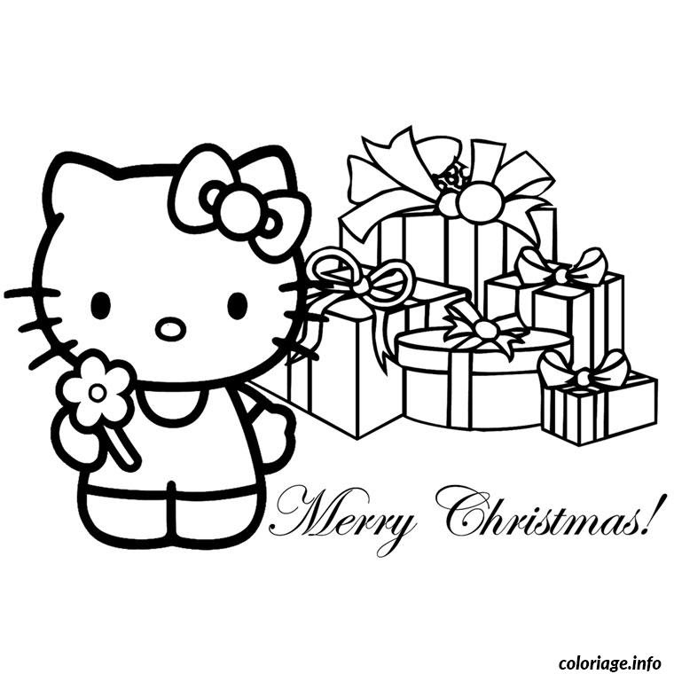 Coloriage Noel Hello Kitty Jecoloriecom