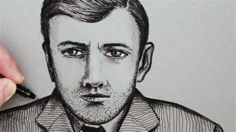 draw  face   man  portrait youtube