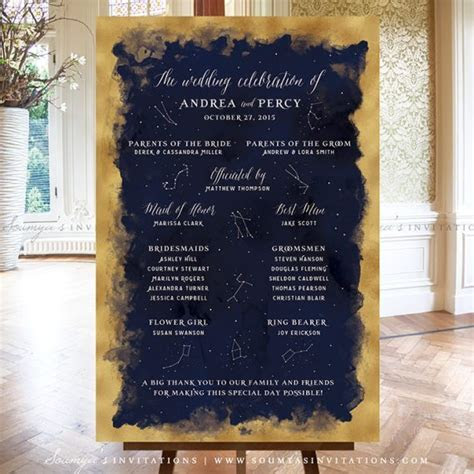 Constellation Starry Night Wedding Signs Decor, Stars
