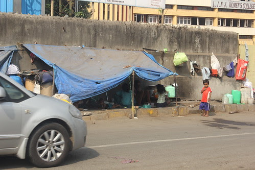 Street Slums On Mumbai Highway by firoze shakir photographerno1