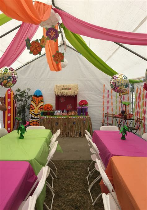 DIY decorations for a Luau theme party. Great way to