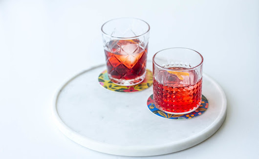 Tea-infused Negroni, two ways