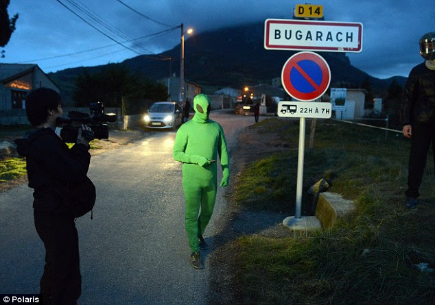 Close encounters of the French kind: One local in Bugarach is hoping to make any invading aliens who emerge from the nearby mountain feel at home