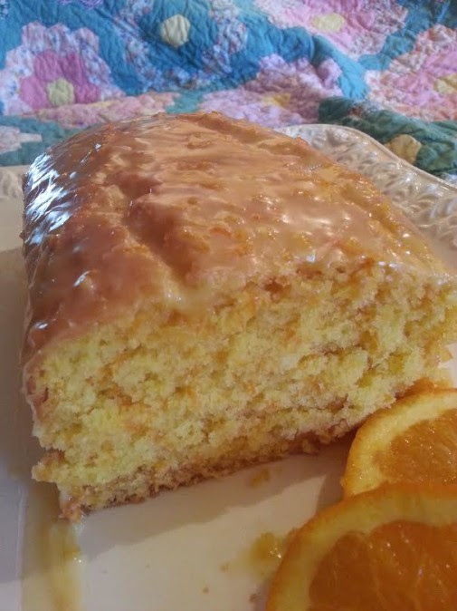 Carrot Orange Bread with Orange Juice Glaze