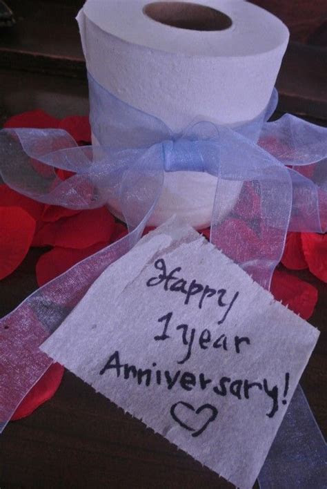 First wedding anniversary, Toilet paper and Toilets on