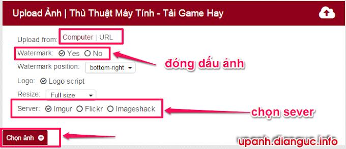 Hướng dẫn sử dụng công cụ upload ảnh miễn phí