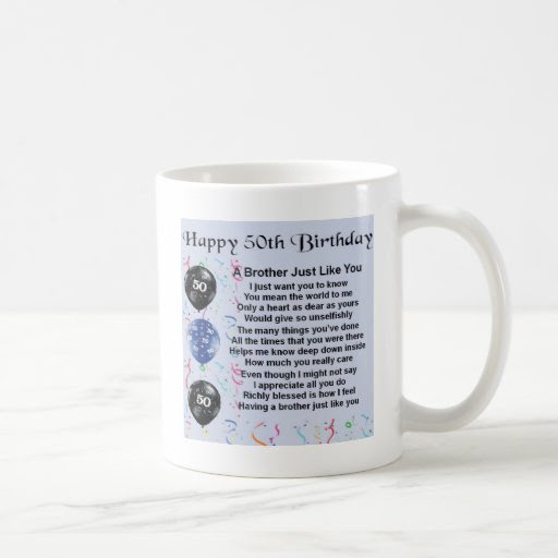 Brother Poem 50th Birthday Mug