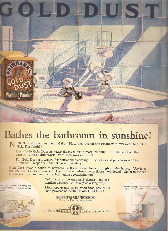 1924 GOLD DUST ADVERTISEMENT Original Vintage by BorderLineArt