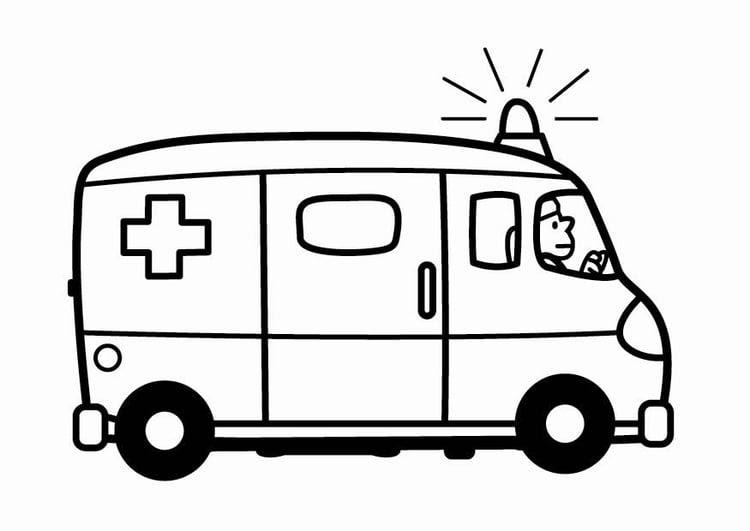 krankenwagen bilder zum ausmalen